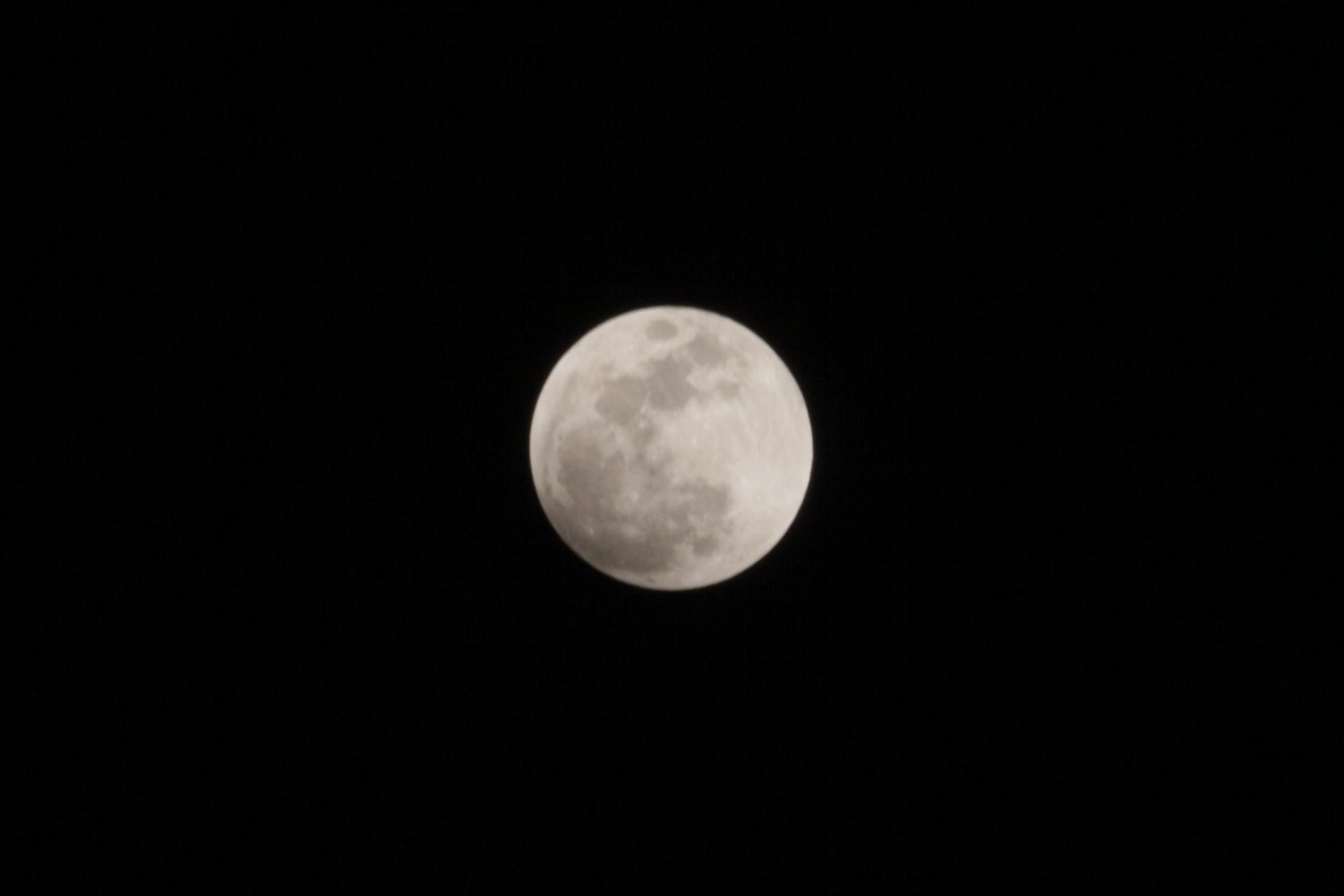 皆既月蝕でしたね。